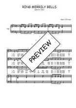 Téléchargez la partition de Ring merrily bells en PDF pour 3 voix SAB et piano