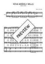 Téléchargez la partition de Ring merrily bells en PDF pour 4 voix SATB et piano