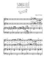 Téléchargez la partition de Samba lelê en PDF pour 2 voix égales et piano