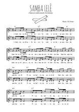 Téléchargez l'arrangement de la partition de bresil-samba-lele en PDF à deux voix