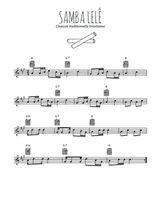 Téléchargez la partition en Sib de la musique bresil-samba-lele en PDF