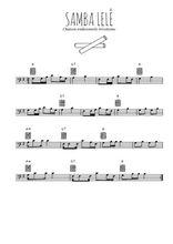 Téléchargez la partition de bresil-samba-lele en clef de fa