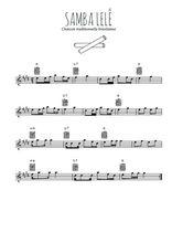 Téléchargez la partition pour saxophone en Mib de la musique bresil-samba-lele en PDF