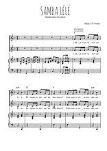 Téléchargez la partition de Samba Lélé (en français) en PDF pour 2 voix égales et piano