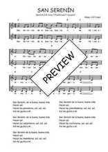Téléchargez l'arrangement de la partition de Traditionnel-San-Serenin en PDF à deux voix