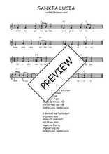 Téléchargez l'arrangement de la partition de Traditionnel-Sankta-Lucia en PDF à deux voix