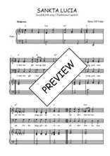 Téléchargez la partition de Sankta Lucia en PDF pour 3 voix SAB et piano