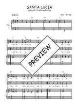 Téléchargez la partition de Santa Lucia en PDF pour 3 voix SAB et piano