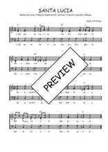 Téléchargez l'arrangement de la partition de Traditionnel-Santa-Lucia en PDF à trois voix