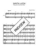 Téléchargez la partition de Santa Lucia en PDF pour 4 voix SATB et piano