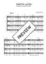 Téléchargez l'arrangement de la partition de Traditionnel-Santa-Lucia en PDF à quatre voix