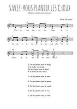 Téléchargez l'arrangement de la partition de Traditionnel-Savez-vous-planter-les-choux en PDF à deux voix