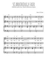 Téléchargez la partition de Scarborough Fair en PDF pour 2 voix égales et piano