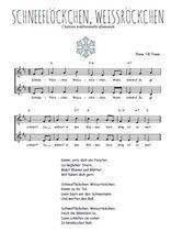Téléchargez l'arrangement de la partition de Traditionnel-Schneeflockchen-Weissrockchen en PDF à deux voix