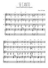 Téléchargez la partition de Se canto en PDF pour 3 voix SSA et piano