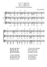 Téléchargez l'arrangement de la partition de se-canto en PDF pour trois voix de femmes