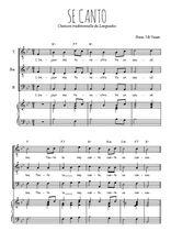Téléchargez la partition de Se canto en PDF pour 3 voix TTB et piano
