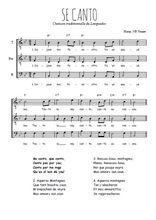 Téléchargez l'arrangement de la partition de se-canto en PDF pour trois voix d'hommes