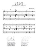 Téléchargez la partition de Se canto en PDF pour Chant et piano