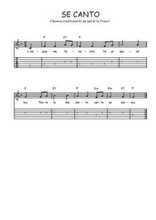 Téléchargez la tablature de la musique se-canto en PDF