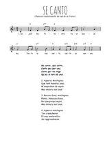La partition gratuite de Se canto