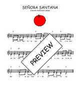 Téléchargez l'arrangement de la partition de Traditionnel-Senora-Santana en PDF à deux voix