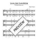 Téléchargez l'arrangement de la partition de Traditionnel-Shalom-chaverim en PDF à deux voix