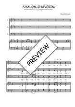 Téléchargez la partition de Shalom chaverim en PDF pour 3 voix SAB et piano