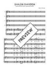 Téléchargez la partition de Shalom chaverim en PDF pour 4 voix SATB et piano