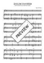 Téléchargez la partition de Shalom chaverim en PDF pour Chant et piano
