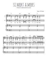 Téléchargez la partition de Si mort a mors en PDF pour 3 voix SAB et piano