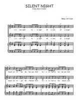 Téléchargez la partition de Silent night en PDF pour 2 voix égales et piano