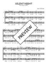 Téléchargez l'arrangement de la partition de noel-silent-night en PDF à trois voix