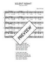 Téléchargez la partition de Silent night en PDF pour 4 voix SATB et piano