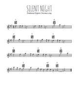 Téléchargez la partition pour saxophone en Mib de la musique noel-silent-night en PDF