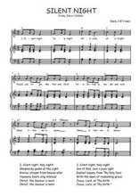 Téléchargez la partition de Silent night en PDF pour Chant et piano