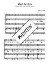Téléchargez la partition de Simi jadech en PDF pour 3 voix SAB et piano