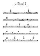 Téléchargez la partition pour saxophone en Mib de la musique afrique-du-sud-siyahamba en PDF