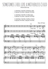 Téléchargez la partition de Sometimes I feel like a motherless child en PDF pour 2 voix égales et piano