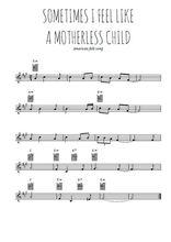 Téléchargez la partition en Sib de la musique sometimes-i-feel-like-a-motherless-child en PDF