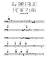 Téléchargez la partition de sometimes-i-feel-like-a-motherless-child en clef de fa