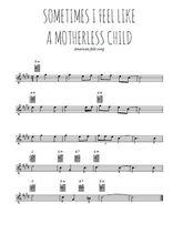 Téléchargez la partition pour saxophone en Mib de la musique sometimes-i-feel-like-a-motherless-child en PDF