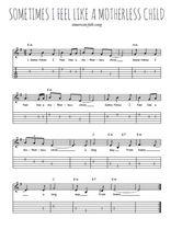 Téléchargez la tablature de la musique sometimes-i-feel-like-a-motherless-child en PDF