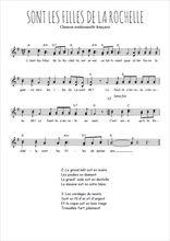 Téléchargez l'arrangement de la partition de Traditionnel-Sont-les-filles-de-la-Rochelle en PDF à deux voix