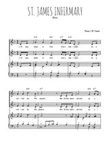 Téléchargez la partition de St. James infirmary blues en PDF pour 2 voix égales et piano