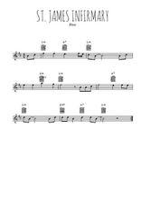 Téléchargez la partition pour saxophone en Mib de la musique st-james-infirmary-blues en PDF