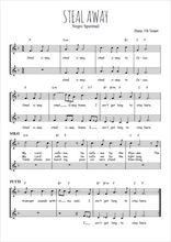 Téléchargez l'arrangement de la partition de Traditionnel-Steal-away en PDF à deux voix