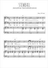 Téléchargez la partition de Stewball en PDF pour 2 voix égales et piano