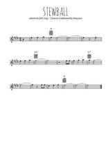 Téléchargez la partition pour saxophone en Mib de la musique usa-stewball en PDF