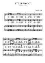 Téléchargez la partition de Stille Nacht en PDF pour 2 voix égales et piano